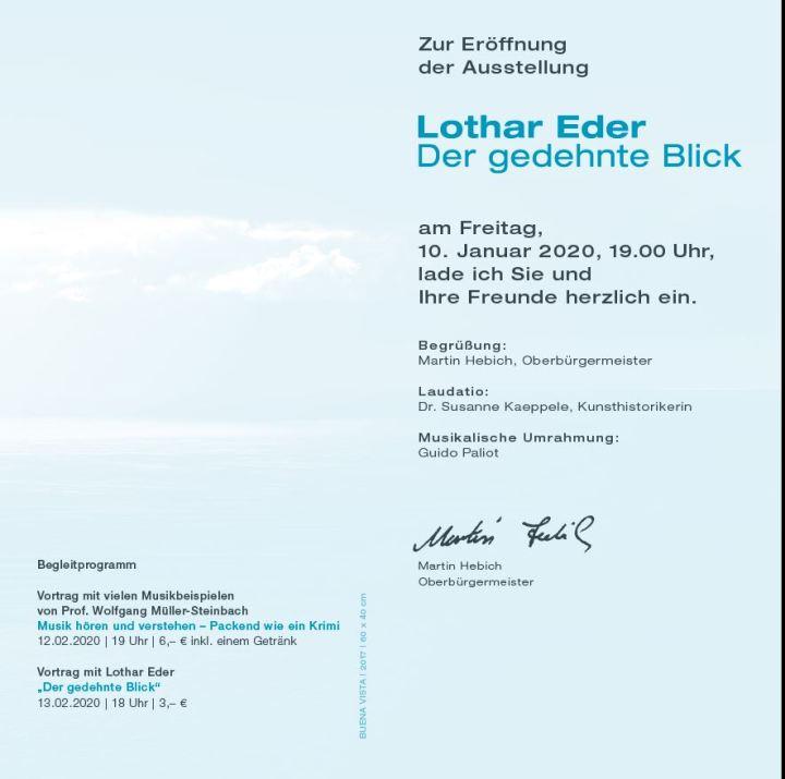 Einladung Vernissage Lothar Eder